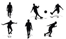 spelarefotboll royaltyfri illustrationer