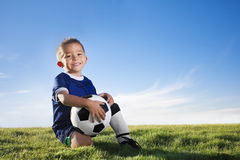 spelarefotbollbarn Fotografering för Bildbyråer