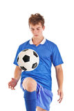 spelarefotbollbarn Royaltyfri Bild