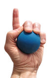 spelareracquetball för nummer ett Arkivfoton