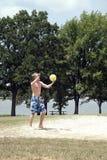 spelarevolleyboll Arkivbild