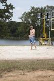 spelarevolleyboll Arkivfoton