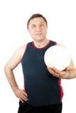 spelarevolleyboll royaltyfri fotografi