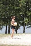 spelarevolleybollkvinna Fotografering för Bildbyråer