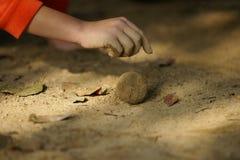 Spelbal van modder Stock Foto