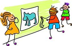 Speld de staart op ezel stock illustratie