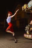 Speld op Meisje en carrousel Royalty-vrije Stock Fotografie