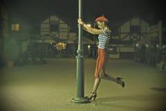 Speld op Meisje en lantaarn Royalty-vrije Stock Foto's