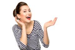 Speld-op meisje het glimlachen Royalty-vrije Stock Foto's