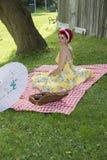 Speld op picknick Stock Foto's