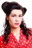 Speld-op retro vrouw van de meisjes de Amerikaanse stijl Royalty-vrije Stock Afbeeldingen