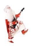 De spelen van Moroz van Ded op gebroken gitaar. Geïsoleerdp stock foto