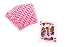 Spelen-kaarten Royalty-vrije Stock Foto's