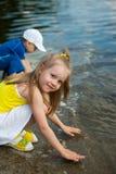 Spelen met water Royalty-vrije Stock Foto