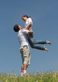 Spelen op verse lucht 2 Stock Afbeeldingen