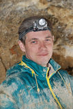 Speleolog Fotografie Stock