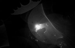 Speleologist At Mayei Cave In Ecuador. Abstract Backlight Speleologist Entering A Cave Underground Shot Stock Photos