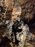 Speleothem bildande i den Baradla grottan, Ungern Royaltyfria Bilder