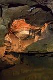 Speleothems в пещере karst Стоковая Фотография RF