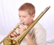 Speler 12 van de trombone Stock Afbeeldingen