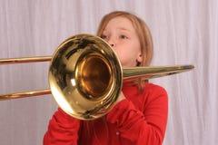 Speler 16 van de trombone Stock Fotografie