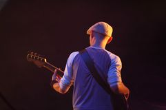 Speler 2 van de gitaar stock foto