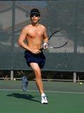 Speler 2 van het tennis Stock Foto's