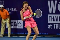Speler Aginieszka Radwanska van het wereld de vrouwelijke Tennis Stock Foto's