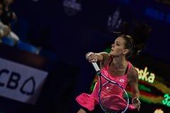 Speler Aginieszka Radwanska van het wereld de vrouwelijke Tennis Stock Foto