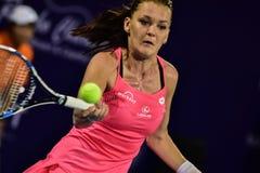 Speler Aginieszka Radwanska van het wereld de vrouwelijke Tennis Royalty-vrije Stock Fotografie
