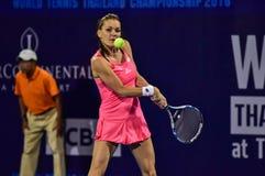 Speler Aginieszka Radwanska van het wereld de vrouwelijke Tennis Stock Afbeeldingen
