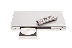 Speler DVD die schijf met afstandsbediening uitwerpt Stock Foto