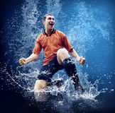 Speler onder water stock afbeeldingen