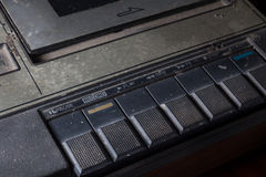 Speler van de close-up de oude cassette Stock Foto
