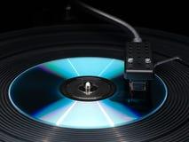 Speler van vinylschijven en compact-disc. Royalty-vrije Stock Fotografie