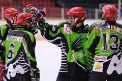 Spelers in actie in Ijshockeydef. van Copa del Rey Royalty-vrije Stock Afbeelding