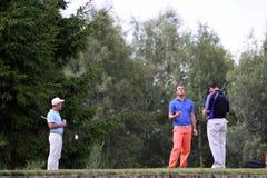 Spelers die bij het golf Prevens Trpohee 2009 wachten Stock Foto's