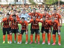 Spelers van FC Shakhtar Stock Afbeelding