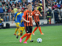 Spelers van FC Shakhtar_2 Royalty-vrije Stock Fotografie