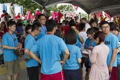 Spelers van het festival van Taipeh Dragon Boat van 2013 Stock Foto's