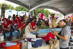 Spelers van het festival van Taipeh Dragon Boat van 2013 Royalty-vrije Stock Foto