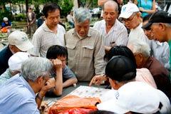 Spelers van het Schaak van Xiangqi de Chinese Royalty-vrije Stock Foto