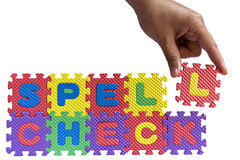 Spell check concept Stock Photo