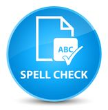Spell check document elegant cyan blue round button. Spell check document isolated on elegant cyan blue round button abstract illustration Stock Images
