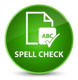 Spell check document elegant green round button Royalty Free Stock Photography