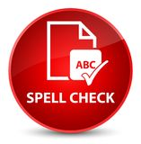 Spell check document elegant red round button. Spell check document isolated on elegant red round button abstract illustration Stock Photography