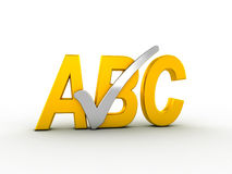 Spell check icon Royalty Free Stock Images
