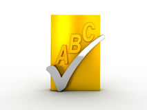 Spell check icon Royalty Free Stock Photos