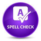 Spell check elegant purple round button. Spell check isolated on elegant purple round button abstract illustration Royalty Free Stock Photo