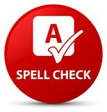 Spell check red round button Stock Images